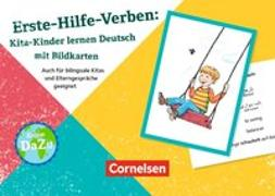 Deutsch lernen mit Fotokarten - Kita / Erste-Hilfe-Verben