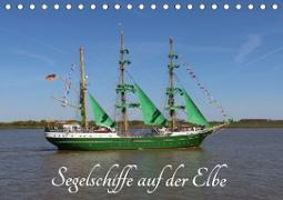 Segelschiffe auf der Elbe (Tischkalender 2021 DIN A5 quer)