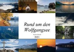 Rund um den Wolfgangsee (Wandkalender 2021 DIN A3 quer)