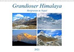 Grandioser Himalaya, Bergriesen in Nepal (Wandkalender 2021 DIN A3 quer)