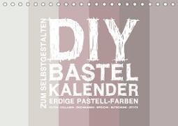 DIY Bastel-Kalender -Erdige Pastell Farben- Zum Selbstgestalten (Tischkalender 2021 DIN A5 quer)