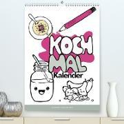 KOCH MAL KALENDER - Lustige Rezepte zum Ausmalen (Premium, hochwertiger DIN A2 Wandkalender 2020, Kunstdruck in Hochglanz)
