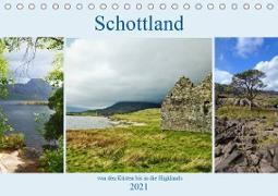 Schottlands - von den Küsten bis in die Highlands (Tischkalender 2021 DIN A5 quer)