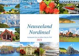 Neuseeland Nordinsel - faszinierende Orte am anderen Ende der Welt (Wandkalender 2021 DIN A4 quer)