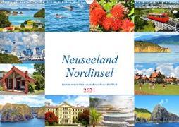 Neuseeland Nordinsel - faszinierende Orte am anderen Ende der Welt (Wandkalender 2021 DIN A3 quer)