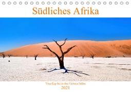 Südliches Afrika - Vom Kap bis zu den Victoria Fällen (Tischkalender 2021 DIN A5 quer)