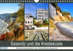 Sassnitz und die Kreideküste - Herbstimpressionen vom Hochuferweg Jasmund (Wandkalender 2021 DIN A4 quer)
