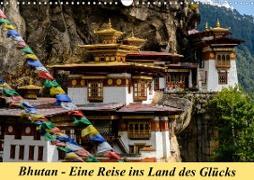 Bhutan - Eine Reise ins Land des Glücks (Wandkalender 2021 DIN A3 quer)