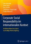 Corporate Social Responsibility im internationalen Kontext