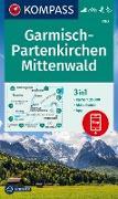 KOMPASS Wanderkarte Garmisch-Partenkirchen, Mittenwald