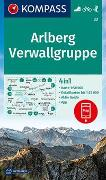 KOMPASS Wanderkarte Arlberg, Verwallgruppe