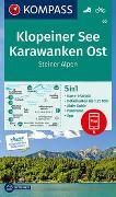 KOMPASS Wanderkarte Klopeiner See, Karawanken Ost, Steiner Alpen