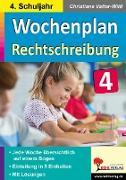 Wochenplan Rechtschreibung / Klasse 4