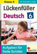 Lückenfüller Deutsch / Klasse 6