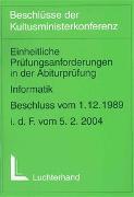 Einheitliche Prüfungsanforderungen in der Abiturprüfung / Einheitliche Prüfungsanforderungen in der Abiturprüfung