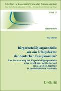 Bürgerbeteiligungsmodelle als ein Erfolgsfaktor der deutschen Energiewende?