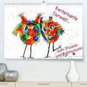 Kunterbunte Tierwelt (Premium, hochwertiger DIN A2 Wandkalender 2021, Kunstdruck in Hochglanz)