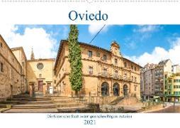 Oviedo - Die historische Stadt in der spanischen Region Asturien (Wandkalender 2021 DIN A2 quer)
