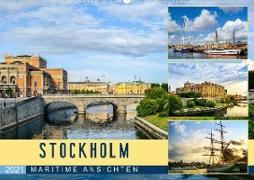 Stockholm - Maritime Ansichten (Wandkalender 2021 DIN A2 quer)