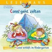 """LESEMAUS 205: """"Conni geht zelten"""" + """"Conni schläft im Kindergarten"""" Conni Doppelband"""