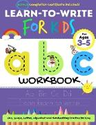 Learn to Write For Kids ABC Workbook