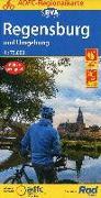 ADFC-Regionalkarte Regensburg und Umgebung mit Tagestouren-Vorschlägen, 1:75.000, reiß- und wetterfest, GPS-Tracks Download