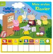 Peppa Pig: Mein erstes Klavier - Kinderbuch mit Klaviertastatur, 9 Kinderlieder, Vor- und Nachspielfunktion - Pappbilderbuch ab 3 Jahren