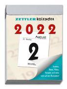 Tagesabreißkalender M 2022 - Bürokalender 5,5x7,1 cm - 1 Tag 1 Seite - mit Sudokus, Rezepten, Rätseln uvm. auf den Rückseiten - Zettler Kalender - 302-0000-1