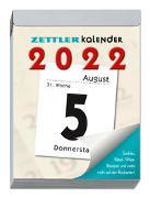 Tagesabreißkalender XL 2022 8,2x10,7 - Bürokalender 8x11 cm - 1 Tag 1 Seite - mit Sudokus, Rezepten, Rätseln uvm. auf den Rückseiten - Zettler Kalender - 305-0000-1