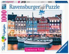 Ravensburger Puzzle Scandinavian Places 16739 - Kopenhagen, Dänemark - 1000 Teile Puzzle für Erwachsene und Kinder ab 14 Jahren