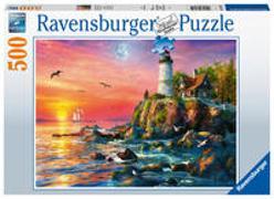 Ravensburger Puzzle 16581 - Leuchtturm am Abend - 500 Teile Puzzle für Erwachsene und Kinder ab 12 Jahren
