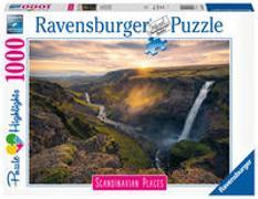 Ravensburger Puzzle Scandinavian Places 16738 - Haifoss auf Island - 1000 Teile Puzzle für Erwachsene und Kinder ab 14 Jahren