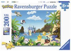Ravensburger Kinderpuzzle 12840 - Schnapp sie dir alle! 200 Teile XXL - Pokémon Puzzle für Kinder ab 8 Jahren