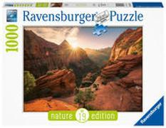 Ravensburger Puzzle Nature Edition 16754 - Zion Canyon USA - 1000 Teile Puzzle für Erwachsene und Kinder ab 14 Jahren