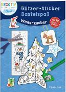 Glitzer-Sticker Bastelspaß. Winterzauber