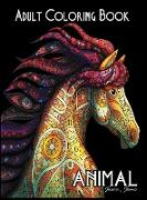Animal Adult Coloring Book: Stress Reliever Adult Color Book with Animal Mandala
