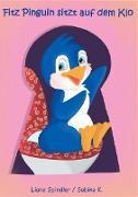 Fitz Pinguin sitzt auf dem Klo