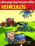 VEHÍCULOS Libro Para Colorear Para Niños