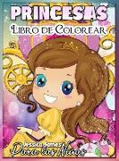 Princesas Libro para Colorear para Niñas: Interesante Libro para Colorear para Niños Lindos, de 3 a 9 Años, con Princesas y Magia - Libro para Colorea