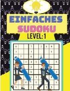 Einfaches Sudoku-Rätselbuch zum Entspannen und Stressabbau