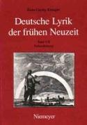Deutsche Lyrik der frühen Neuzeit 5/2. Frühaufklärung