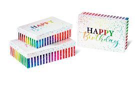 3-Tlg. Rechteck Groß Happy Birthday Rainbow 947-422