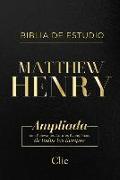 RVR Biblia de Estudio Matthew Henry, Leathersoft, Negro, con índice
