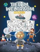 Tier im Weltraum Malbuch für Kinder