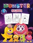 Monster Malbuch für Kinder