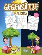 Gegensätze Malbuch für Kinder