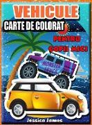 Vehicule carte de colorat pentru copii mici