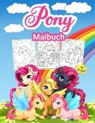 Pony Malbuch für Kinder