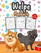 Welpe Malbuch für Kinder