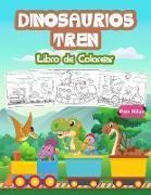 Dinosaurios Tren Libro de Colorear para Niños